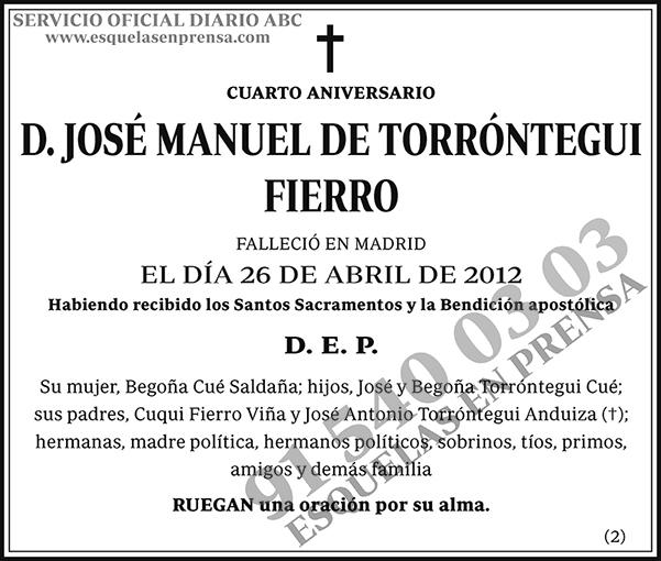 José Manuel de Torróntegui Fierro
